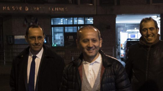 Mukhtar Ablyazov upon release from French prison